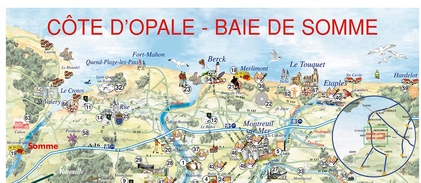 carte cote d opale et baie de somme Carte interactive – Côte d'Opale Baie de Somme
